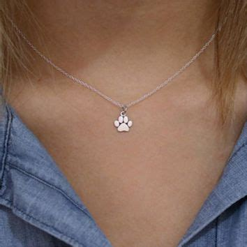 Cat Paw Necklace shop pet memorial jewelry on wanelo