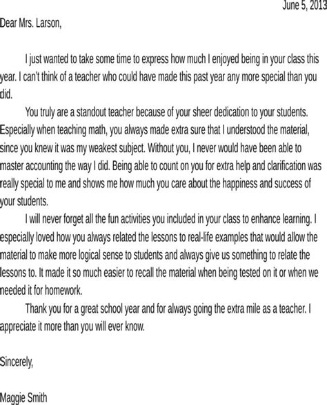 appreciation letter on teachers day sle appreciation letter for free