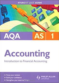 aqa an introduction to aqa as accounting unit 1 introduction to financial accounting 9780340958186 amazon com books