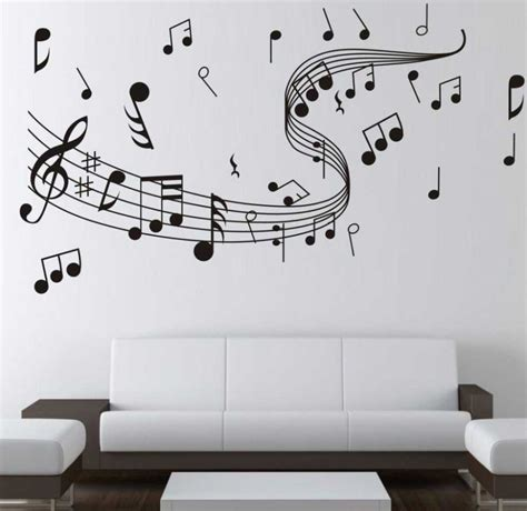music note bedroom music note room decor on white wall paint color ideas