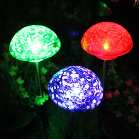 glass mushroom solar lights solar mushroom lights solar lights blackhydraarmouries