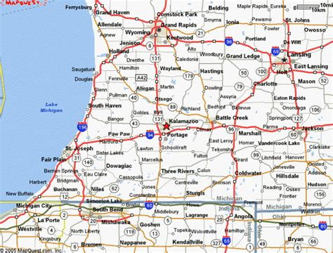 printable road maps of michigan map west michigan my blog