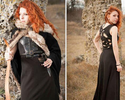 Sweater Who Mantel Busana Fashion Pasangan celtic dress viking costume viking dress and mantle with