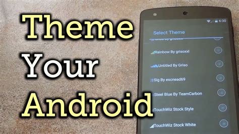 download theme engine android theming the android system ui with theme engine xposed