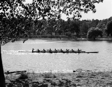 sculling boat canvas 1930s silhouette sculling boat race on the schuylkill