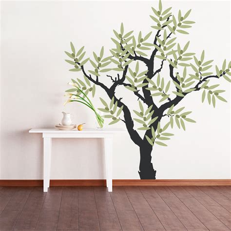 sticker trees for walls olive tree wall decal