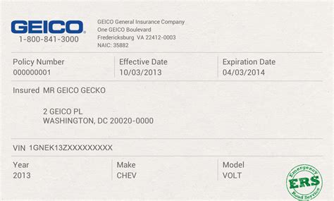 Insurance Cards Templates by Geico Insurance Card Template Free Printables