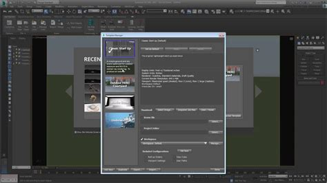 3ds max managing start up templates youtube