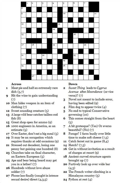 Search Uk Free Uk Free Cryptic Crosswords Printable Search Engine At Search