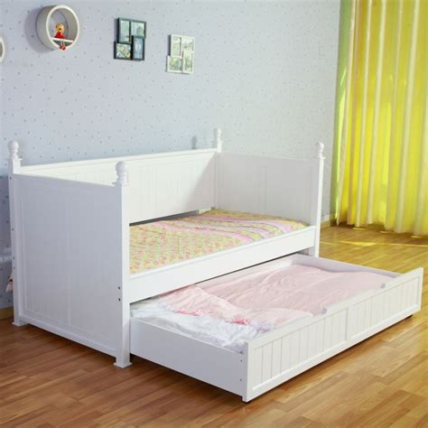 princess bed frame kids princess single bed frame w trundle in white buy trundle beds