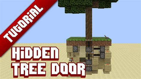 minecraft tutorial hidden tree door youtube