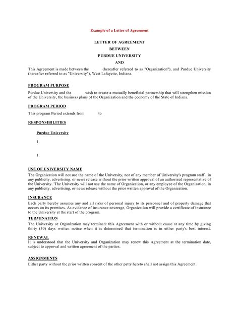 9+ Business Agreement Letter Examples - PDF, DOC | Examples
