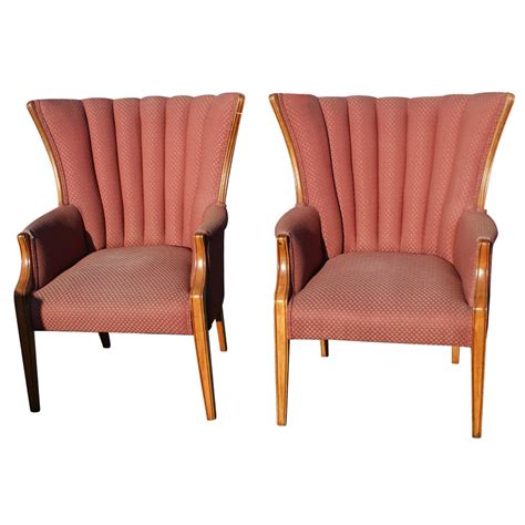 hollywood regency chair pair hollywood regency style wingback accent arm chairs ebay