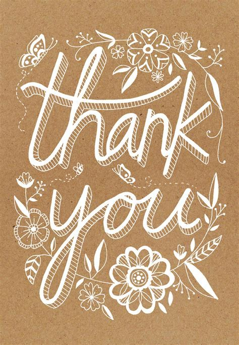 Rustic   Thank You Card Template (Free)   Greetings Island