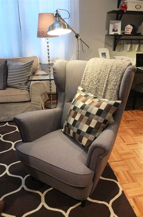ikea strandmon wing chair   comfortable piece   classic  great  reading