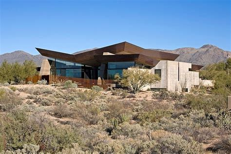 desert house situated in arizona