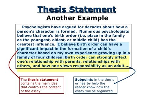 La Essay by Thesis Statement