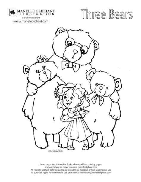 three bears coloring page three little bears coloring pages free download coloring