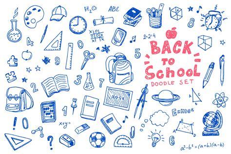 school doodle free vector back to school doodle vector set illustrations on