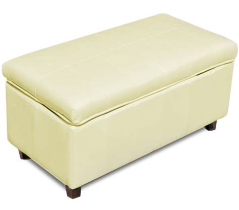 white faux leather ottoman white rectangular ottoman with faux leather exterior