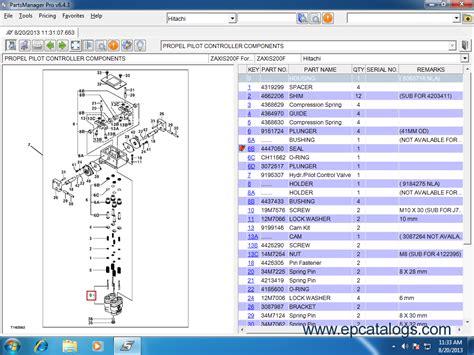 hitachi partsmanager pro  parts manual