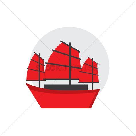 junk boat vector image 1594618 stockunlimited - Junk Boat Drawing