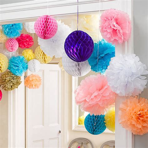 set of three honeycomb hanging decorations by little baby