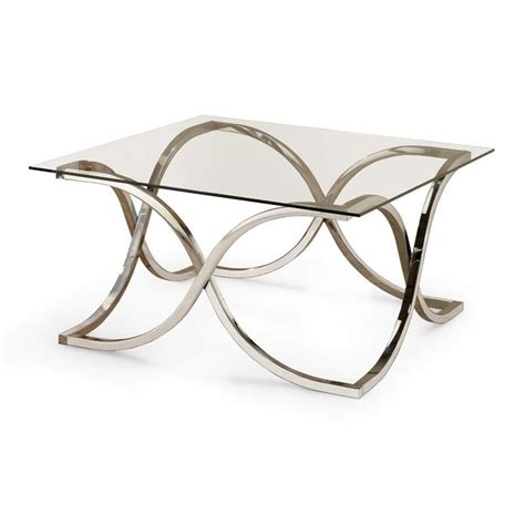 Coaster Glass Coffee Table Coaster Glass Top Coffee Table In Chrome 701918