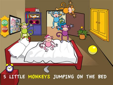 5 little monkeys jumping on the bed nursery rhyme ipad for kids favorite educational apps for toddlers