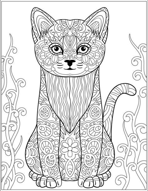 cat stress relieving designs patterns adult