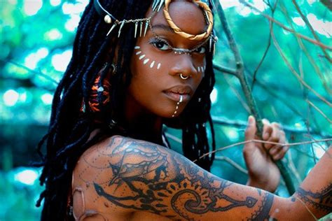 tribal tattoos on black skin style inspiration moniasse sessou holistic locs
