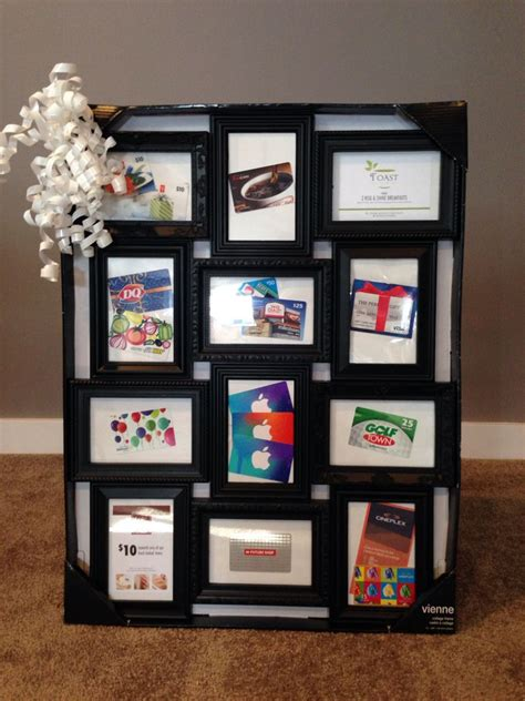 Gift Card Frame - one of our basket raffle items giftcards displayed in a multi frame can view gc