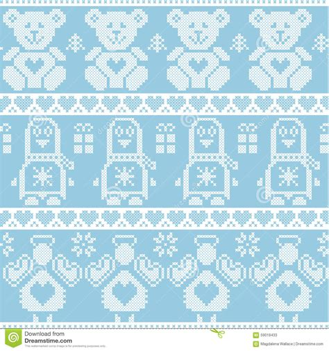blue nordic pattern blue candinavian vintage christmas nordic seamless pattern