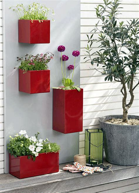 Three Cool Wall Planters Wall Garden Pots