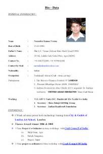 Biodata Template by Verma Overseas Bio Data