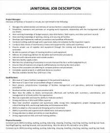 Janitorial Description by Janitor Description Exle 9 Free Word Pdf Documents Free Premium Templates