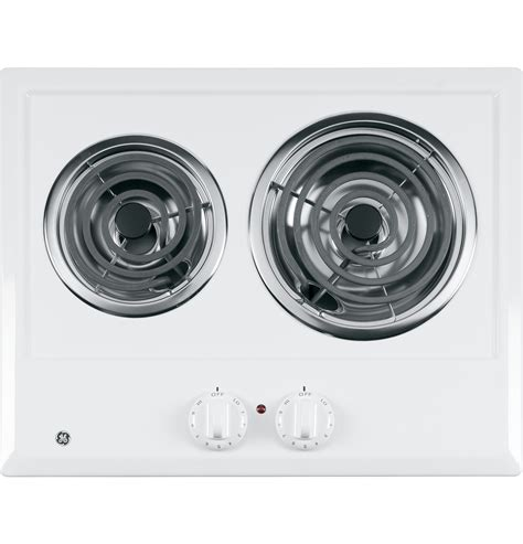 cooktop 2 burner electric ge 174 two burner electric cooktop jp202dww ge appliances