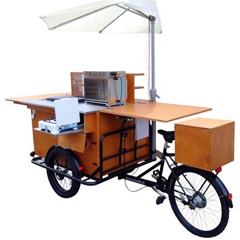 banco ambulante food bike pasticceria ambulante con banco legno