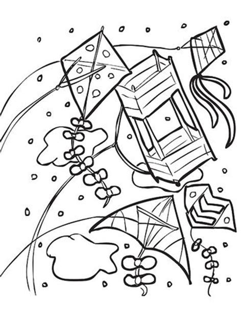 spring kite coloring page printable spring coloring pages