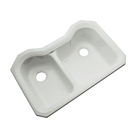 acrylic undermount kitchen sinks thermocast newport undermount acrylic 33 in 0 hole double