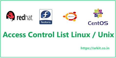 tutorial acl linux posix access control list acl linux unix arkit