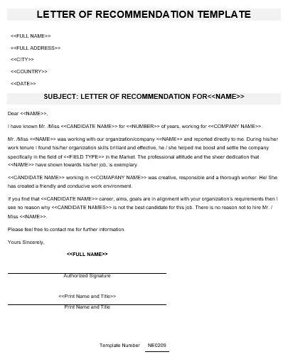 Letter Of Recommendation In Arabic ne0209 letter of recommendation template namozaj