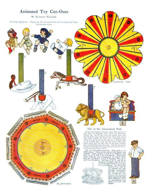 merry go template free printable merry go paper doll vintage style