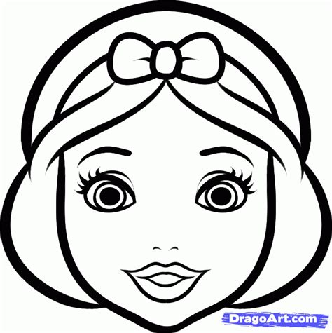 Easy To Draw Disney Princesses by How To Draw Snow White Easy Step By Step Disney