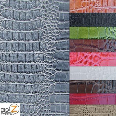 alligator upholstery big nile crocodile leather vinyl fabric embossed