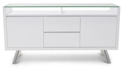 Lemari Buffet White Glossy blanco high gloss modern buffet white zuri furniture