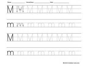 free tracing letter m worksheet