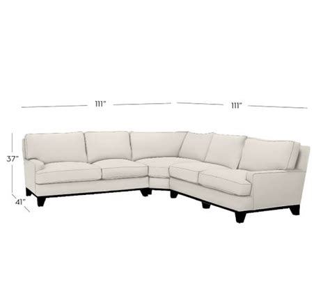 sectional wedge seabury upholstered 3 piece l shaped sectional with wedge