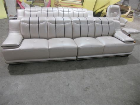 4 Seat Leather Sofa Contemporary Furniture Ivory Leather Living Room Sofas 4 Seater Designer Modern Style Top