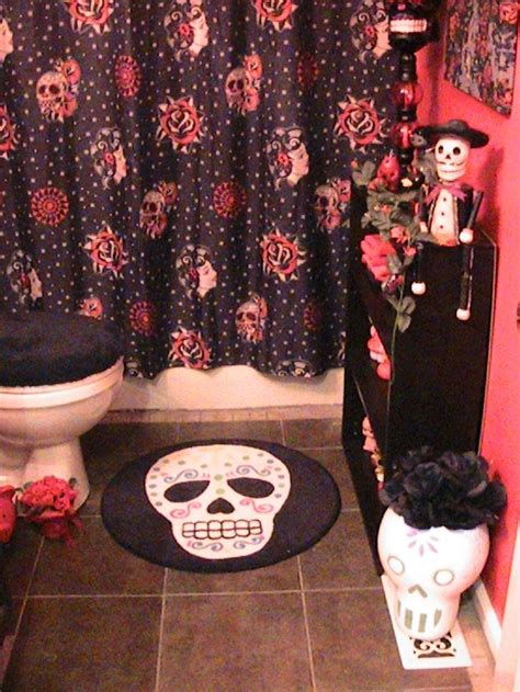 sugar skull bathroom accessories day of the dead bathroom decor home sweet home